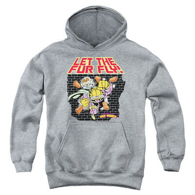 GARFIELD LET THE FUR FLY Youth Hoodie Pull-Over