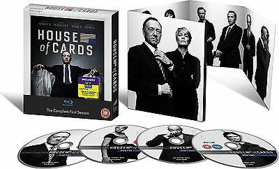 House of Cards - Season 1 (Blu-ray, 4 Discs, Region Free) *NEW/SEALED*