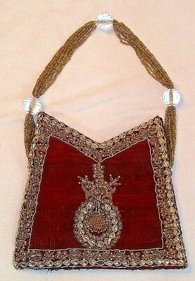 Hand Made Antique Purse Hand Beaded Circa 1920