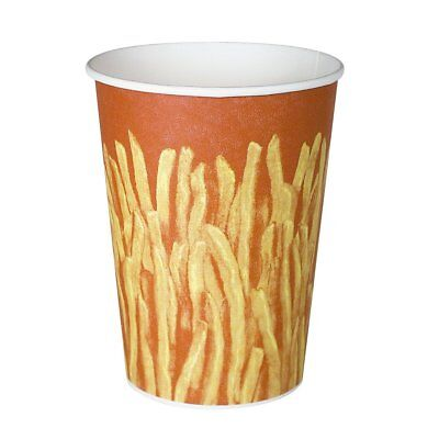 SOLO GRS32-00021 Claycoat Paper French Fry Cup, 32 oz. Capacity, Great Fries of