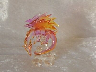 Glass Fire Dragon - Yellow/Purple