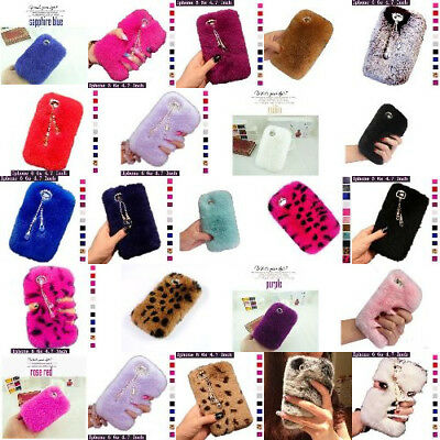 Diamond Pendant Fluffy Fur Case Cover For iPhone 6/6S/6+/6S+