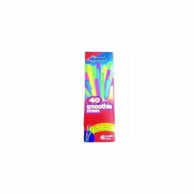 Diamond Neon Smoothie Straws, 40 Ct Assorted  Pack of 2
