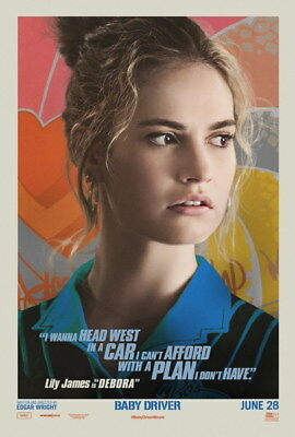 "003 Lily James - Beautiful Hot England Actor Star 24""x35"" Poster"