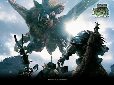 """020 Monster Hunter - Moster Fight Game 32""""x24"""" Poster"""
