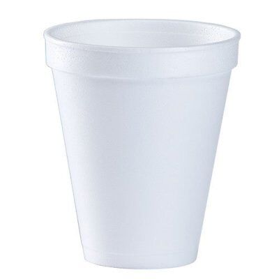 12 Oz. White Disposable Drink Foam Cups Hot and Cold Coffee Cup Pack of 48
