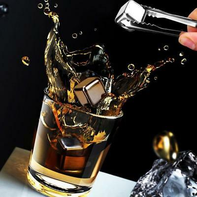1/2/4Pcs 27mm  Whiskey Whisky Stones Stainless Steel Ice Cube Wine Chiller