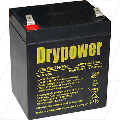 12V 5Ah Replacement Battery Compatible with APC RBC43 (8 battery required)