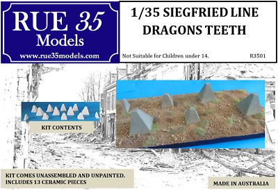 1/35 WW2 Dragons Teeth - Seigfried Line Diorama Accessory
