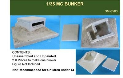 1/35 WW2 Machine Gun Bunker with Base Diorama Accessory