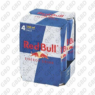 RED BULL CANS 4 PACK 250ML (x6)