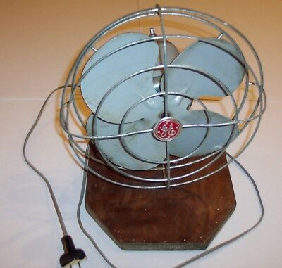 Vintage GENERAL ELECTRIC GE Metal Oscillating Fan. Used and dirty - WORKS GOOD