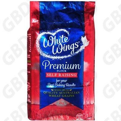 6x WHITE WINGS SELF RAISING FLOUR 2KG