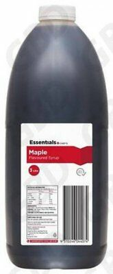 4x ESSENTIALS CHEF MAPLE FLAVOURED SYRUP TOPPING 3L