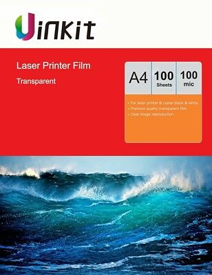 A4 Overhead Project OHP Film Clear for Laser Printer 210X297 Uinkit - 100 Sheets