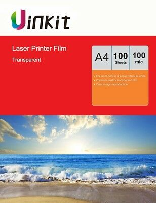 A4 OHP Film Overhead Project  Clear for Laser Printer 210X297 Uinkit - 100 Sheet