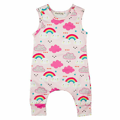 817cccc6c13 Toddler Infant Kids Baby Girls Rainbow Romper Jumpsuit Bodysuit Clothes  Outfits