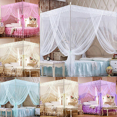 BL_ Romantic Princess Canopy Mosquito Net No Frame for Twin Full Queen King Bed