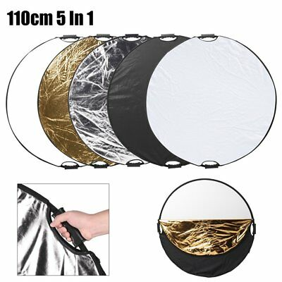 110cm 5in1 Photo Photography Light Diffuser Mulit Collapsible Reflector 43'' DO
