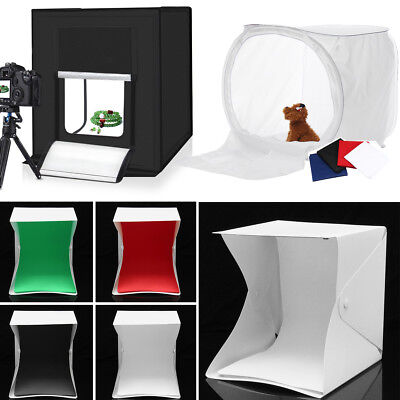 80cm Photography Studio Photo Light Tent Cube  Box Lighting Kit + 4x Backdrops