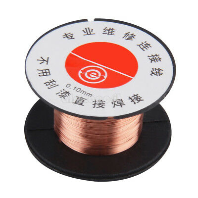 5/10PCS 0.1MM Copper Soldering Solder Enamelled Reel Wire Roll Connecting