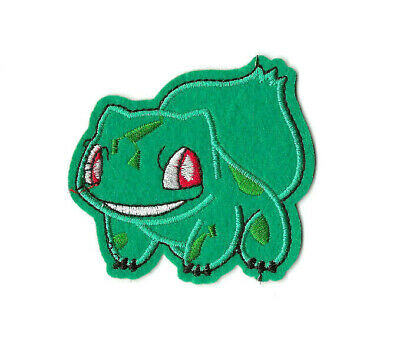 BULBASAUR Iron on / Sew on Patch Embroidered Badge Motif Pokemon Go TV PT383