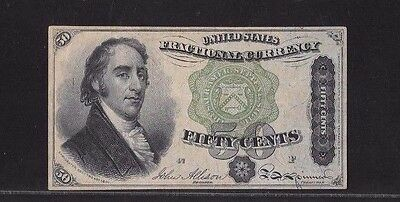 1863 Fourth Issue .50 Cents Fractional Currency Note, Fr# 1379, Graded Pcgs Vf35