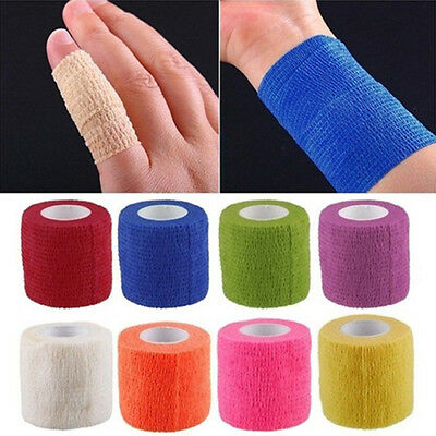 BL_ Self-Adhesive Elastic Bandage Gauze Tape Medical Finger Muscles Ankle Wrap E