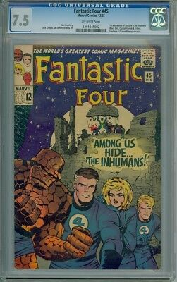 Fantastic Four #45 - CGC Graded 7.5 - 1st Appearance Of The Inhumans