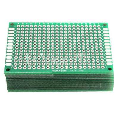 2/5/10Pcs Double Side Prototype PCB Tinned Universal Breadboard 4x6 cm FR4