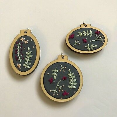 3 mixed size Mini Embroidery Hoops      FAST POSTAGE       FSC wood