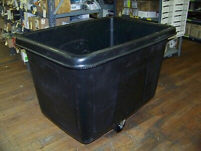 New Rubbermaid Black Laundry Cart 14.0 Cu.Ft. Waste Collection Cube Truck