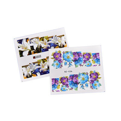 Set di 50 Decal Water Transfer Manicure Art Stickers Punte fai da te Decorazioni
