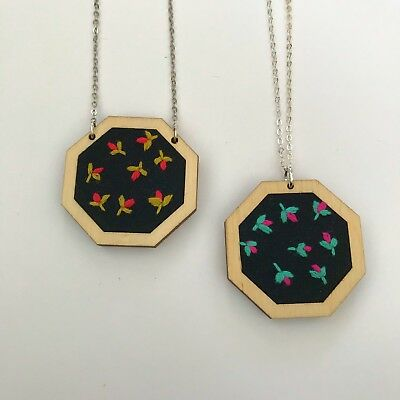 Octagon mini embroidery hoops FAST POSTAGE FSC Wood