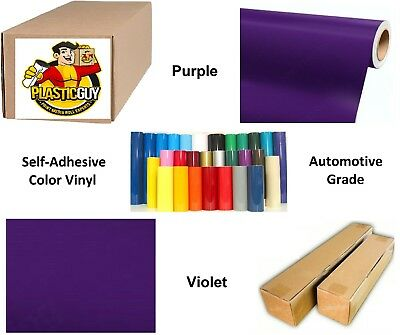 """Purple Self-Adhesive Sign Vinyl 30"""" x 150 ft or 50 yd (1 Roll)"""