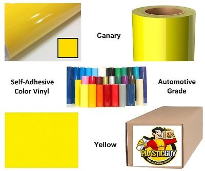 "24"" x 50yd 6yr outdoor sign vinyl film craft hobby roll sheet canary yellow"