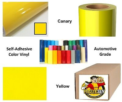 "48"" x 50yd 6yr outdoor sign vinyl film craft hobby roll sheet canary yellow"