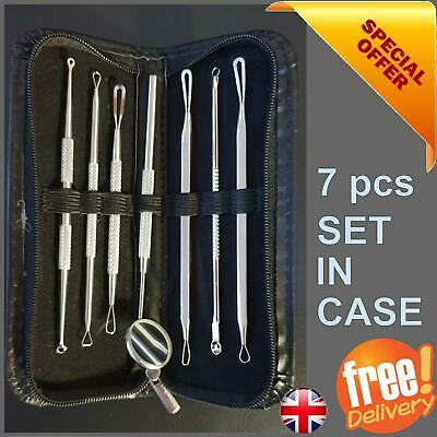 Blackhead Tool Spot Comedone Extractor Remover Tool Kit Set uk 1 or 7 pcs Offer