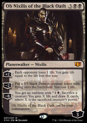 1x OB NIXILIS OF THE BLACK OATH - Rare - Commander -  MTG -  Magic the Gathering
