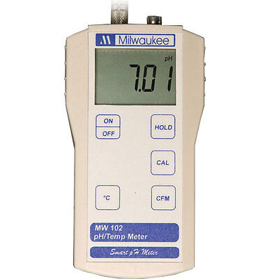 Milwaukee MW102 0.00 to 14.00 PH,0 to 70deg C uP-Based ATC pH/C Meter
