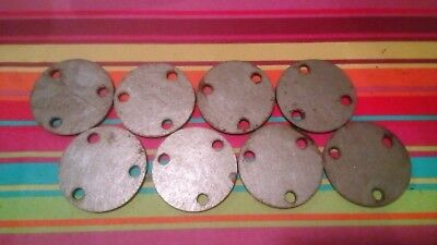 8x 80mm Round 5mm Plasma Cut Feet With Holes,Disc Steel Offcuts.Welding Project.
