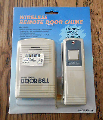 NEW & SEALED Wireless Remote Door Chime Model RDB-38