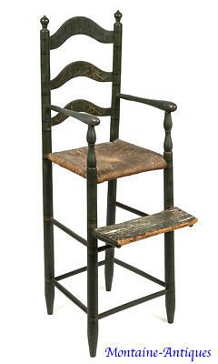 Fine Painted Delaware Valley High Chair c. 1800