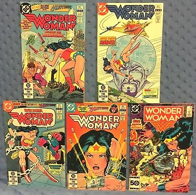 WONDER WOMAN comic book set/lot - #s 294, 295, 296, 297, 326 (DC 1982-1985) VF-