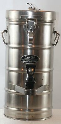 Super Chef 320 Stainless Steel 2 Gallon Insulated Military Grade Coffe Dispenser