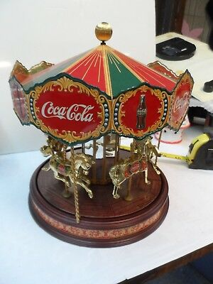Rare Limited Edition Coca Cola Musical Carousel Franklin Mint Coke NEEDS REPAIR