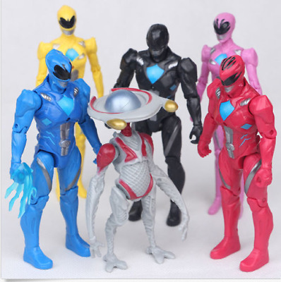 Power Rangers Super Heros The Movie 6 PCS Character Action Figure Toy Kids Gifts