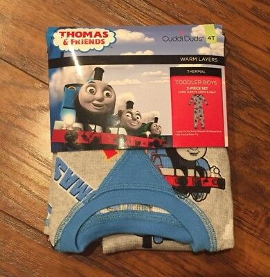 Cuddle Duds Toddler Boys 2 PC Thermal Set Thomas & Friends Size 4T