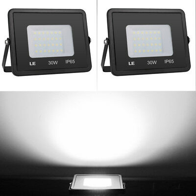 2 Pack 30W LED Flood Lights Outdoor Super Bright Security Floodlights Daylight