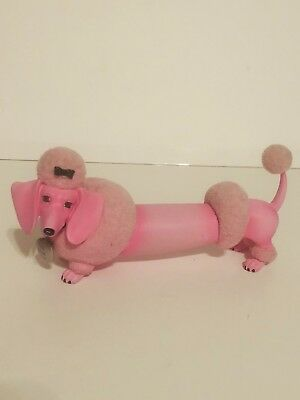 Vintage Hot Pink Link Poodle Figurine Cute And Fun Very Well Made!